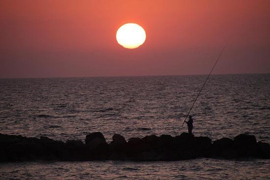 corallia beach sunsets